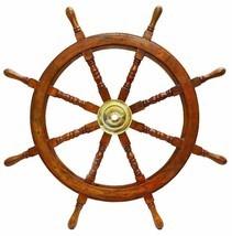 "ship wheel 36"" wooden ship wheel Nautical Wall Decor big size nautical gift - $118.80"