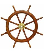 "ship wheel 36"" wooden ship wheel Nautical Wall Decor big size nautical gift - $118.80"