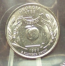 1999-P Georgia State Quarter MS65 in the Cello #701 - $2.39