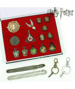 Harry Potter House Crest Rings Pendants Necklace Xmas Gift Cosplay 14 PC... - $18.92