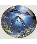 Danbury Mint Moonlit Moment Underwater Paradise Plate 1991 Whales Robert... - $12.16