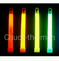 "4 Glow Sticks Safety Grade 6"" Camping Hiking Emergency Bags Made in USA U-Pick - $5.99"