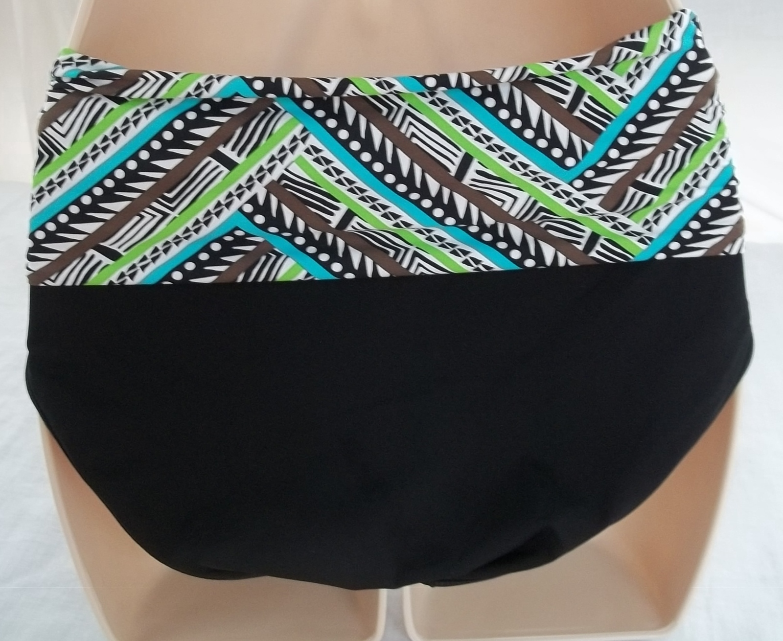 COCO REEF TANKINI & REVERSIBLE HIGH WAISTED/ROLL OVER BOTTOM,SIZE 32C/SMALL