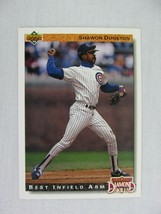 Shawon Dunston Chicago Cubs 1992 Upper Deck Baseball Card 714 - $0.98