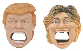 Hillary Clinton VS Donald Trump Beer Bottle Cap Openers Fridge Magnets S... - $23.99