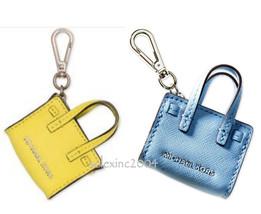 $58 Michael Kors DILLION Handbag Purse Tote Bag Leather Key Fob Chain Ch... - $38.00