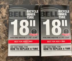 "2- BELL 18"" UNIVERSAL BICYCLE BIKE INNER TUBE Standard Schrader Valve 1.... - $18.80"