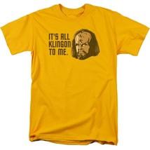 Star Trek T-shirt Free Shipping Worf It's All Klingon To Me cotton tee CBS1183 image 1