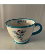 Starbucks 2007 Holiday Mug Jolly Blue Candy Cane Christmas 10 Oz - $10.84