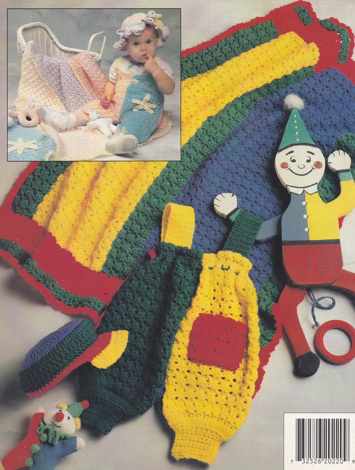 Jolly Jumpers, Annie's Crochet Pattern Booklet 87J22 Infants to 1 Year Sizes