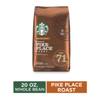 Starbucks Medium Roast Whole Bean Coffee — Pike Place Roast — 100% Arabi... - £15.72 GBP