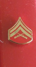 USMC US MARINE CORPS E-4 CORPORAL NECKTIE TIE TAC LAPEL SWEETHEART PIN - $6.92