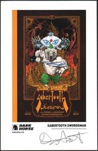 Dark Horse Comics Promo Print Sabertooth Swordsman Signed By Damon Gentry - $9.89