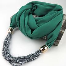 Design Autumn Scarf Necklace Women Beads Statement Necklace&pendants Sol... - $13.80