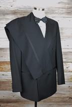 Hugo Boss Tuxedo Size 42 Tall Black Wool Super 100's #150 - $106.42