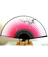 Women Elegant modern handmade bamboo silk folding hand fan Gifts - $5.45