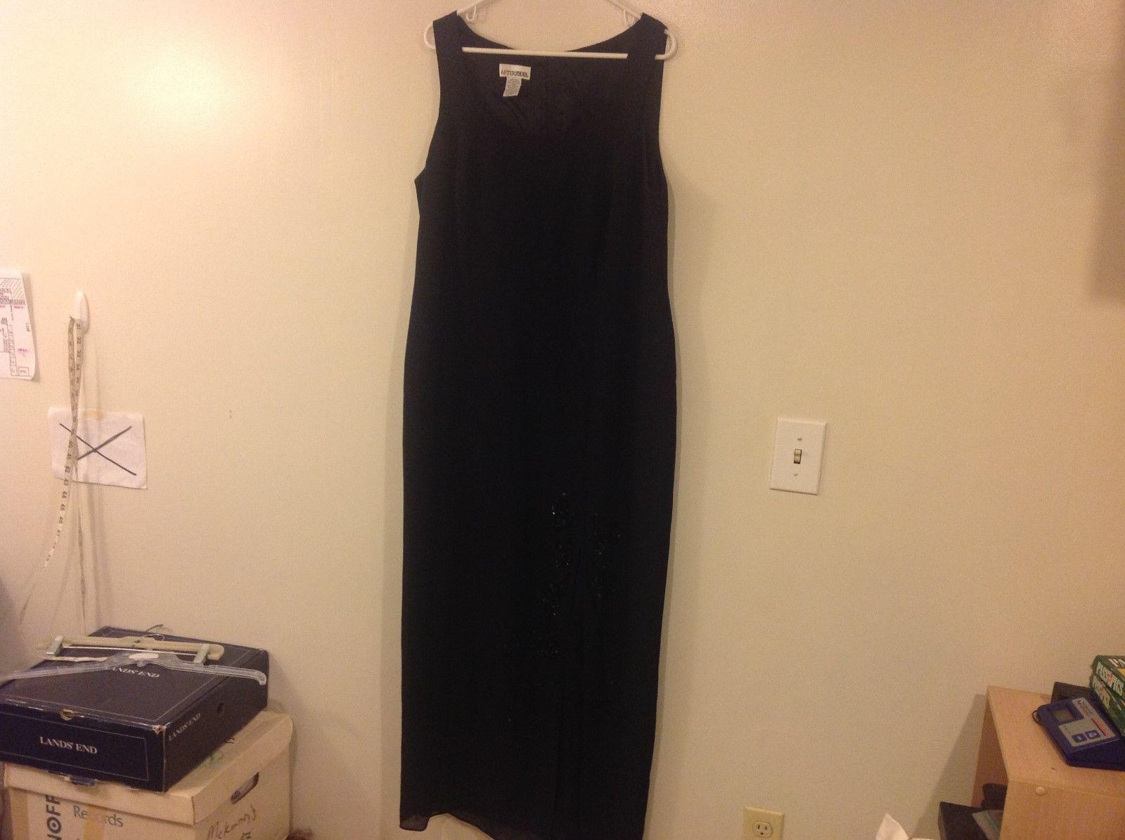 After Dark Black Sleeveless Party Dress Sz 16W
