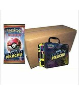 Pokemon TCG Detective Pikachu Collectors Chest Case of 9 Lunch Boxes Sealed - $239.99