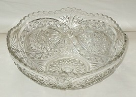Imperial Hobstar Pattern 10-inch Footed Bowl - $16.78