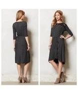 Anthropologie Tiny Dress Black and Gray Stripes Black Lace Size XSP - $37.15