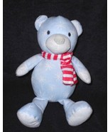 Manhattan Toy Chilly Bear Light Blue White Snowflake Red Scarf Stuffed A... - $9.88