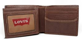 NEW LEVI'S MEN'S PREMIUM LEATHER CREDIT CARD ID WALLET BILLFOLD BROWN 31LV1344 image 8