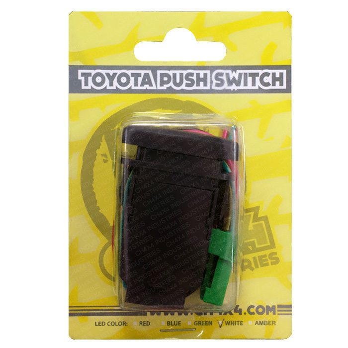 Blue  LED CH4x4 Toyota Push Switch Tacoma 3rd Gen  Bumper Light Bar Symbol 2