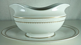 Mikasa Royalty Gold Gravy Boat and Underplate - $22.17