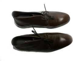 Cole Haan Men Size 10.5 Brown Leather Copley Chukka Boots Made in India New Box image 4