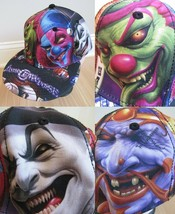 Insane Clown Posse Hat 2011 ICP Flex Dark Carnival Joker Faces Virtis Ca... - $112.19