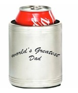 """Insulated Stainless Steel Can Cooler Koozie Engraved with """"Worlds Greate... - $12.95"""