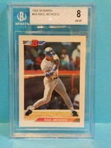 1992 Bowman Baseball Raul Mondesi Rookie Card #64 ⚾⚾ BGS 8.0 NM-MT - $9.25