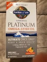 Minami Supercritical Platinum Omega-3 Fish Oil, Orange Flavor - 60 Softgels - $23.38