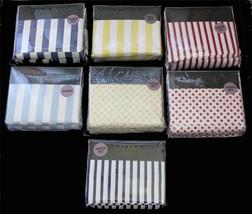 Ralph Lauren Polka Dots or Stripes Navy or Light Blue Yellow Red Sheet Set NIP - $84.99+