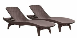Keter Pacific 2-Pack All-Weather Adjustable Outdoor Patio Chaise Lounge ... - $439.99+