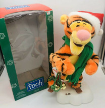 "Telco DISNEY POOH TIGGER Motionette Christmas Animated 1996 Ice Skating 20"" - $52.46"