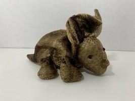 Russ Zonies Earth Zones Triggor triceratops small beanbag dinosaur plush... - $9.89