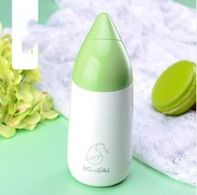 Green Raindrop Thermos Cup Kids Water Bottle Stainless Steel Drinkware - $32.95