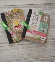 Mini Journal/Bee Note pad/Set of 2 Notebooks/ 2 Pens/ Paper Clip/Lakelan... - $7.50