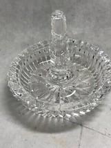 Waterford Cut Crystal Ireland  ring holder round Heritage Vintage - $51.97