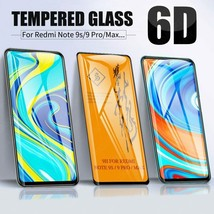 New 6D Full Glue Cover Tempered Glass For Xiaomi Redmi Note 9S 9 Pro Max... - $9.67