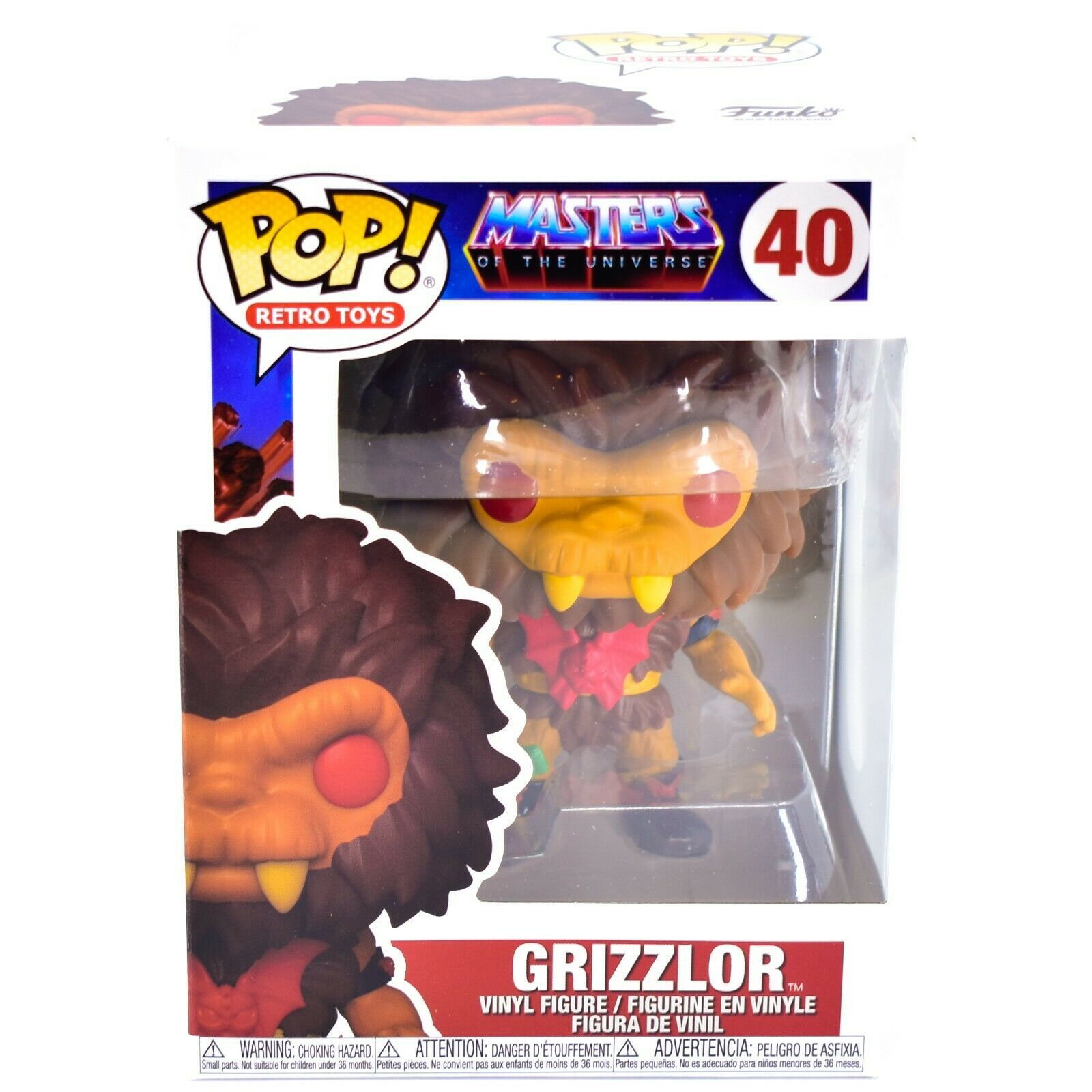 Funko Pop! Retro Toys Masters of the Universe MOTU Grizzlor #40 Vinyl Figure