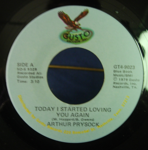 Arthur Prysock - Today I Started Loving You - Gusto Records GT4-9023