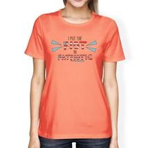 I Put The Riot In Patriotic Women Peach Cute 4th Of July Design Tee - $14.99+