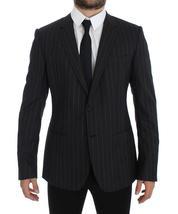 Gray Striped Slim Fit Wool Blazer - $687.60