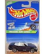 1997 Hot Wheels #580 Treasure Hunt Series 3/12 MERCEDES 500 SL Blue w/5 ... - $17.77