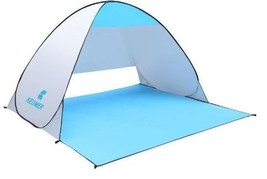 UV Protected Polyester Waterproof Coating Portable Light Weight  Beach Tent - $36.32
