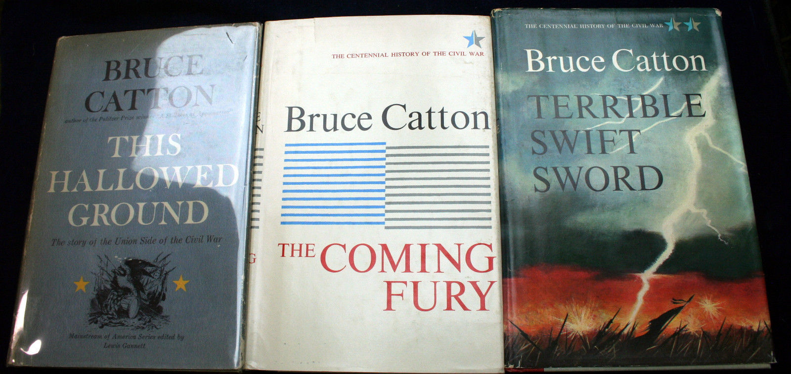 Primary image for Lot 3 Bruce Catton Civil War Hallowed Ground Coming Fury Terrible Swift Sword