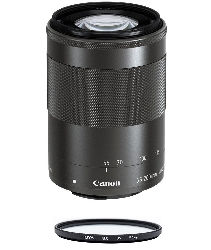 Primary image for CANON EF-M 55-200mm F4.5-6.3 IS STM Black (No box) + HOYA UX UV 52mm Filter
