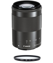 CANON EF-M 55-200mm F4.5-6.3 IS STM Black (No box) + HOYA UX UV 52mm Filter - $300.56